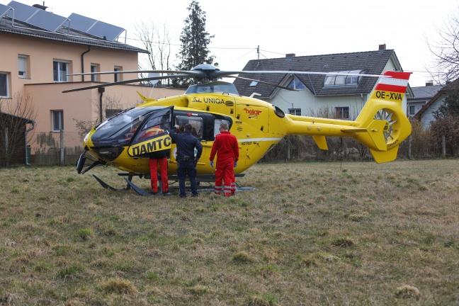 51-jähriger Mann in Neuhofen an der Krems aus der Krems gerettet | Foto: laumat.at/Matthias Lauber