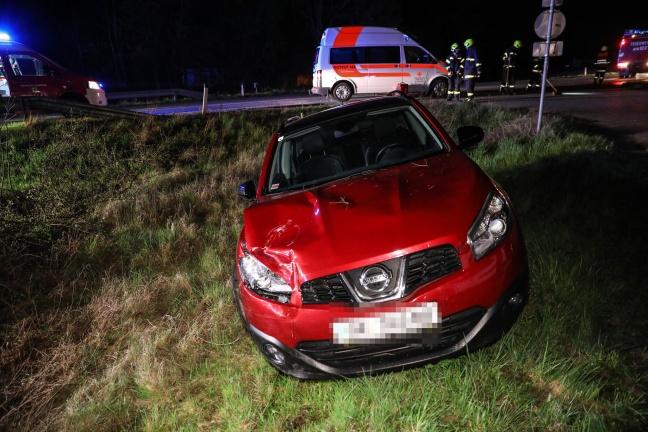 Schwerer Crash auf Innviertler Straße bei Krenglbach fordert zwei Verletzte   Foto: laumat.at/Matthias Lauber