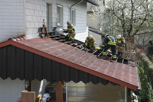 Brand eines Hauszubaues in Fraham rasch gelöscht | Foto: laumat.at/Matthias Lauber
