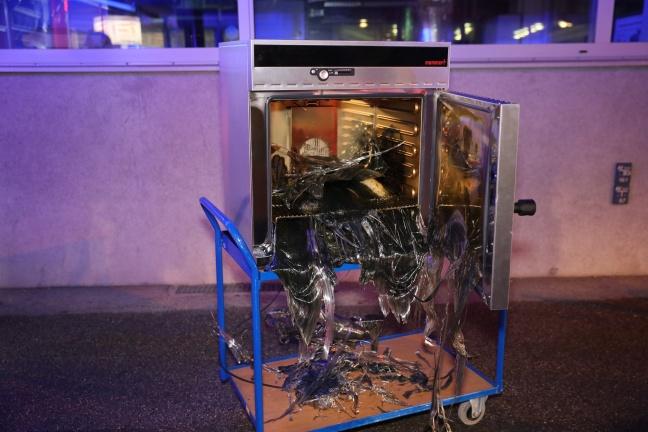 Brand eines Versuchsofens der Fachhochschule in Wels-Innenstadt | Foto: laumat.at/Matthias Lauber