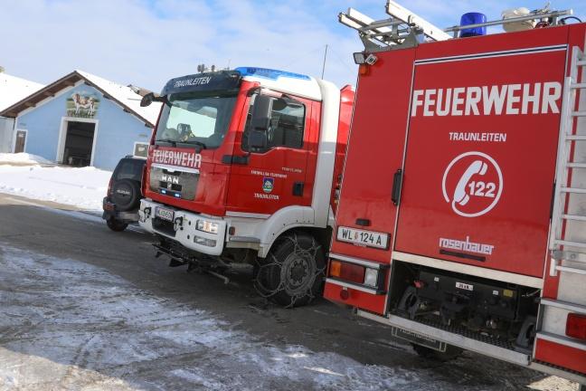 Kleinbrand in einem Stall in Steinhaus von der Feuerwehr rasch abgelöscht | Foto: laumat.at/Matthias Lauber