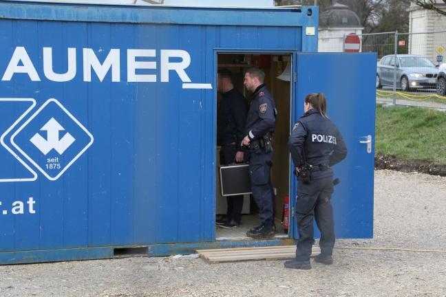 Dreister Einbruch: Diebesgut aus Baucontainer scheibtruhenweise zu Fluchtfahrzeug gekarrt | Foto: laumat.at/Matthias Lauber