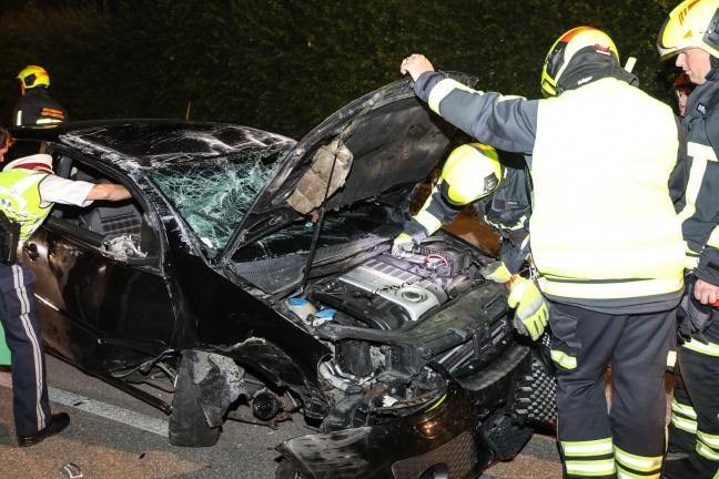 Autolenker bei Fahrzeugüberschlag in Gunskirchen verletzt | Foto: laumat.at/Matthias Lauber