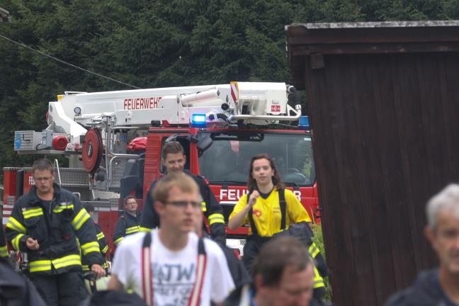 Höhenretter der Feuerwehr bei Personenrettung in Altmünster im Einsatz | Foto: laumat.at/Matthias Lauber