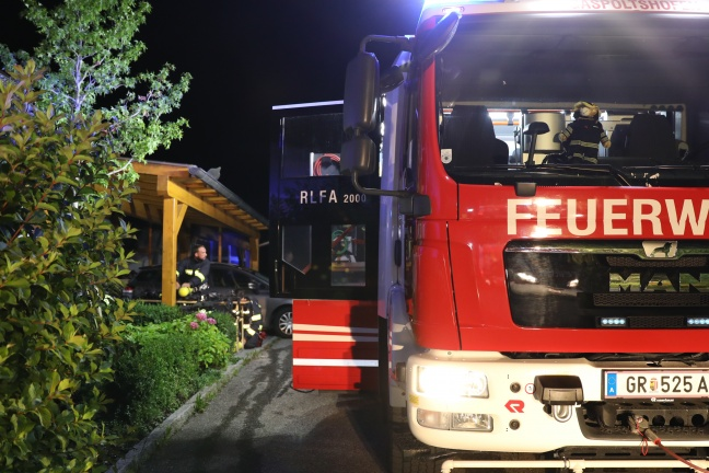 Brand im Keller eines Hauses in Gaspoltshofen rasch abgelöscht | Foto: laumat.at/Matthias Lauber