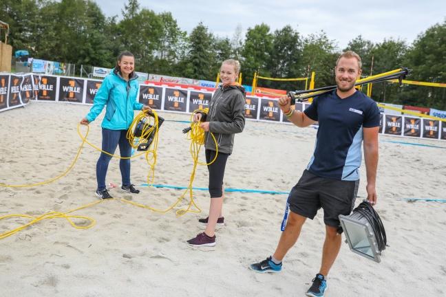 Countdown und letzte Vorbereitungen für den Maxlhaider Beachcup in Wels-Schafwiesen | Foto: laumat.at/Matthias Lauber