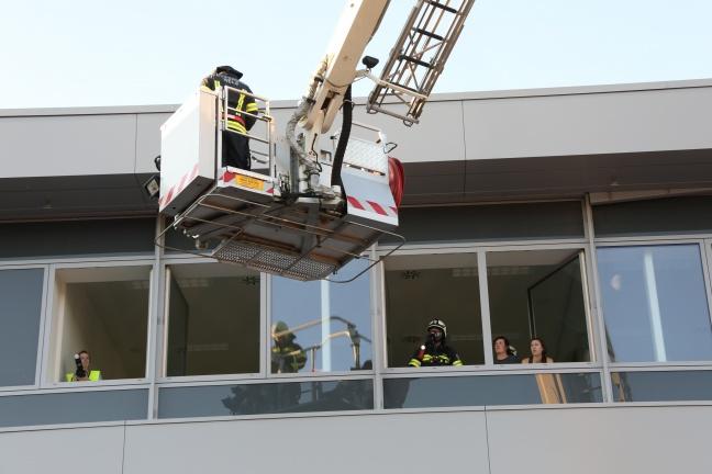 Großangelegte Einsatzübung von Feuerwehr und Rettungsdienst bei Industriebetrieb in Grieskirchen | Foto: laumat.at/Matthias Lauber