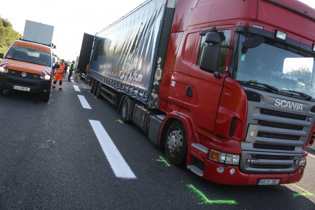 LKW-Crash nach Unfall auf der Innkreisautobahn bei Aistersheim | Foto: laumat.at/Matthias Lauber
