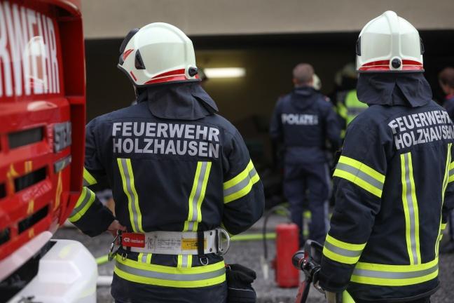 Brand im Heizraum eines Hauses in Holzhausen sorgt für Einsatz der Feuerwehr | Foto: laumat.at/Matthias Lauber