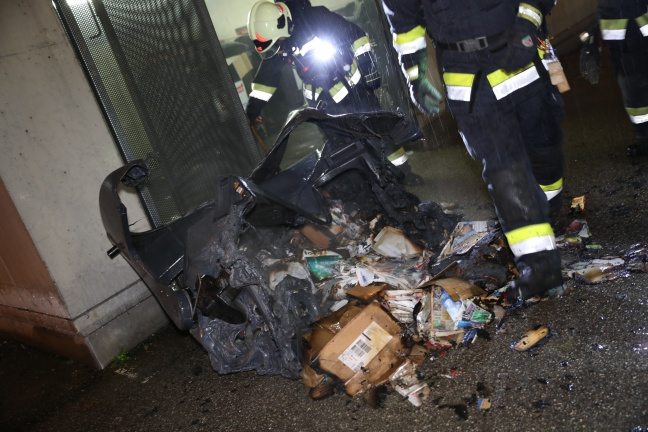 Brand im Müllraum der Bahnhof City Wels in Wels-Innenstadt schnell gelöscht | Foto: laumat.at/Matthias Lauber
