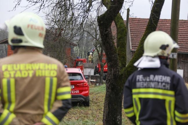 Höhenretter der Feuerwehr bei Personenrettung in Mehrnbach im Einsatz | Foto: laumat.at/Matthias Lauber