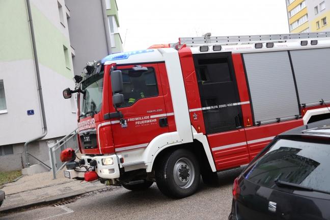 Angebranntes Kochgut in Wohnung sorgt für Einsatz der Feuerwehr in Wels-Lichtenegg | Foto: laumat.at/Matthias Lauber