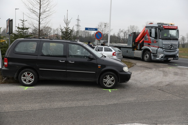 Verkehrsunfall in Gunskirchen endet glimpflich | Foto: laumat.at/Matthias Lauber