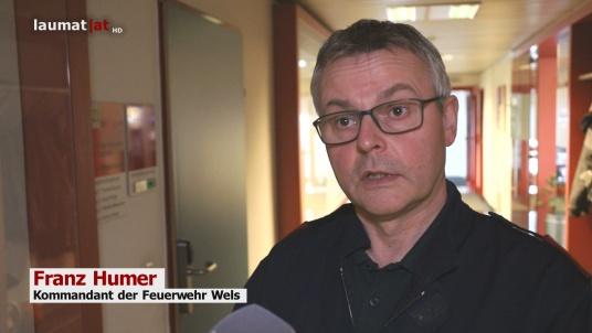 Franz Humer, Kommandant der Feuerwehr Wels