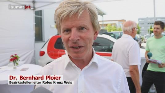 Dr. Bernhard Ploier, Bezirksstellenleiter Rotes Kreuz Wels