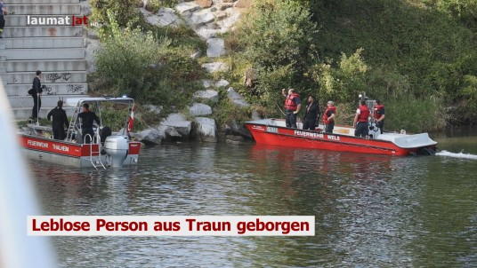 Leblose Person aus Traun geborgen