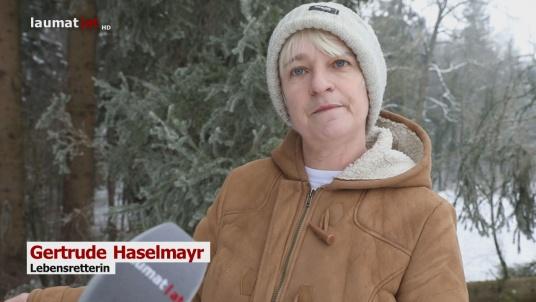Gertrude Haselmayr, Lebensretterin