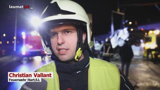 Christian Vallant, Einsatzleiter Feuerwehr Hart/LL