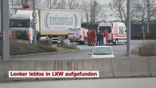 Lenker leblos in LKW aufgefunden