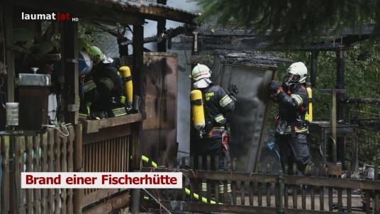 Brand einer Fischerhütte