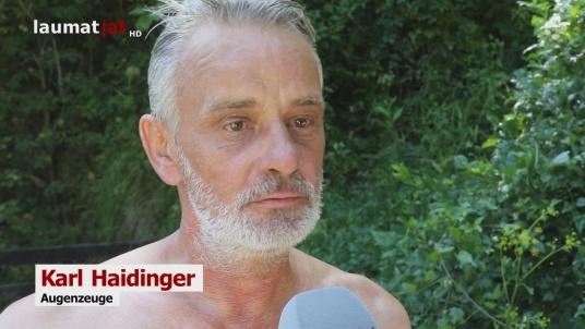 Karl Haidinger, Augenzeuge