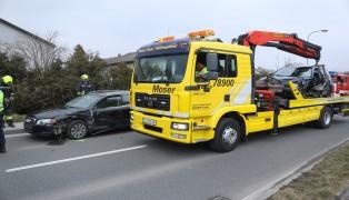 Verkehrsunfall auf der Traunuferstraße in Ansfelden
