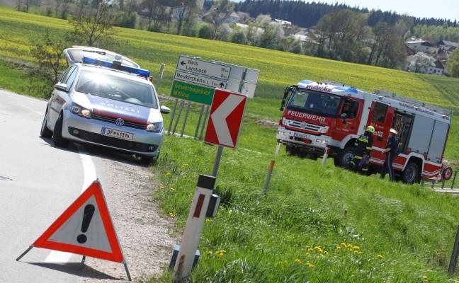 Zwei Verletzte bei Verkehrsunfall in Neukirchen bei Lambach