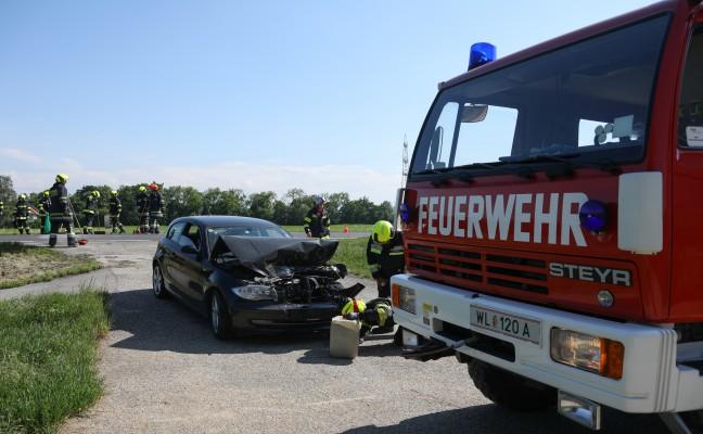 Auffahrunfall auf Wiener Straße in Edt bei Lambach endet glimpflich