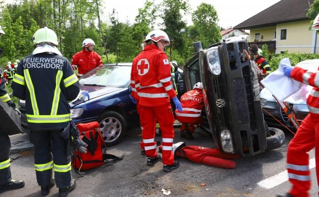 Vielfältige Einsatzübung forderte Einsatzkräfte in Vorchdorf