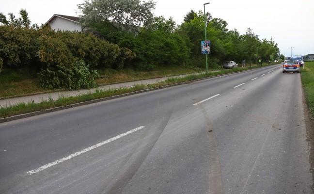 Autolenker kollidierte auf Radweg in Wels-Vogelweide mit Bäumchen
