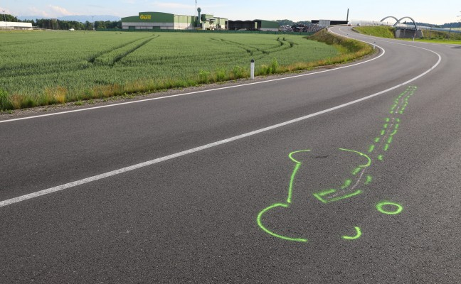 Schwerer Motorradunfall in Edt bei Lambach