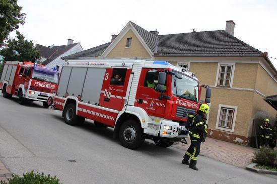 Brand eines Wohnhauses stellte sich gl�cklicherweise als Fehlalarm heraus | Fotograf: Matthias Lauber