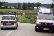 Verkehrsunfall in Krenglbach endet gl�cklicherweise relativ glimpflich | Fotograf: Matthias Lauber