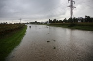 Kleinr�umige �berflutungen durch Starkregen in Ober�sterreich | Fotograf: Matthias Lauber