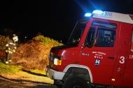 Feuerwehr l�schte brennenden Erdh�gel in Wels-Vogelweide | Fotograf: Matthias Lauber