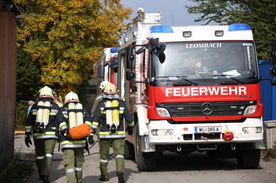 Gemeinsame Einsatz�bung der Feuerwehren in Leombach | Fotograf: Matthias Lauber