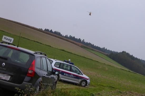 Rettungshubschraubereinsatz nach Reitunfall in Pichl bei Wels | Fotograf: Matthias Lauber