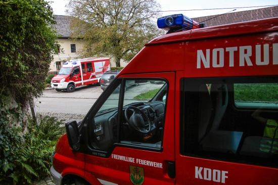 Brandeinsatz im Heizraum eines Wohnhauses in Aichkirchen | Fotograf: Matthias Lauber