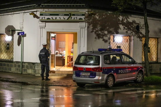 F�nf Verletzte bei Messerstecherei in einem Wettlokal in Wels-Neustadt   Fotograf: Matthias Lauber