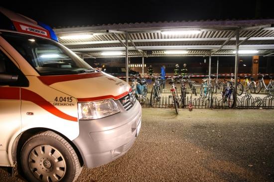 Person im Bahnhof Grieskirchen-Gallspach von Zug erfasst und get�tet   Fotograf: Matthias Lauber