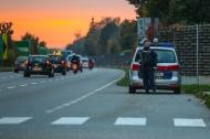 Alarmfahndung der Polizei nach bewaffnetem Raub�berfall auf eine Trafik in Linz   Fotograf: Matthias Lauber