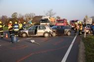 Verkehrsunfall mit mehreren Fahrzeugen im Abendverkehr in Marchtrenk | Fotograf: Matthias Lauber