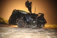 N�chtlicher Verkehrsunfall in Buchkirchen endet gl�cklicherweise relativ glimpflich | Fotograf: Matthias Lauber