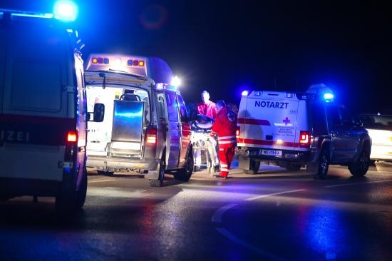 Verkehrsunfall mit Moped in Wels endet gl�cklicherweise glimpflich | Fotograf: Matthias Lauber