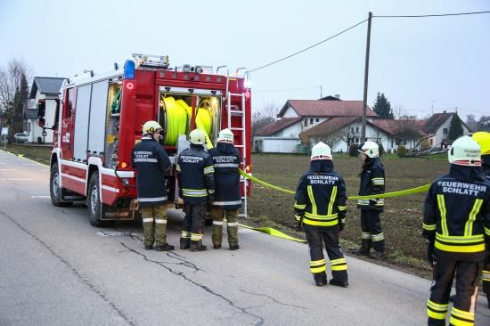 Heizungsst�rung sorgte f�r Gro�einsatz der Feuerwehr in Schlatt | Fotograf: Matthias Lauber