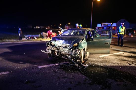 Vier Verletzte bei schwerem Verkehrsunfall in Marchtrenk | Fotograf: Matthias Lauber