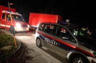 Suchaktion nach n�chtlichem Verkehrsunfall in Roitham | Fotograf: Matthias Lauber