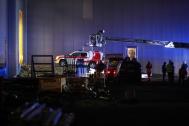 Schwierige Personenrettung aus Sprinklerbecken nach Arbeitsunfall | Fotograf: Matthias Lauber