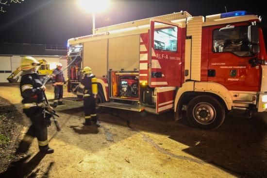 Brand in einer Kompostierung in Kremsm�nster rechtzeitig entdeckt und gel�scht | Fotograf: Matthias Lauber