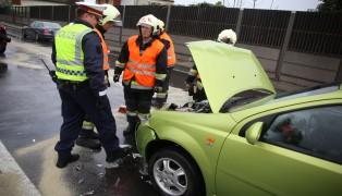PKW-Brand nach Auffahrunfall auf der Pyhrnpass Stra�e